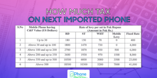 how much tax on next imported phone- phonebechdou