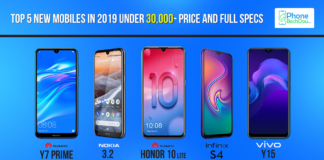 Top 5 new mobiles in 2019 under 30,000- price and full specs - phone bech dou