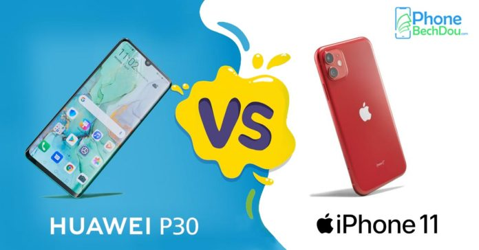 iphone 11 and huawei p30 comparison