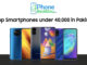 Top Smartphones under 40,000 in Pakistan
