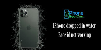 iPhone dropped in water face id not working