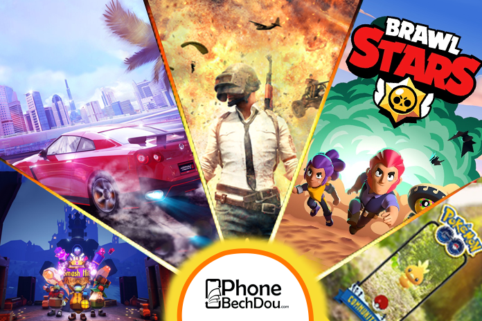 most played games on smart phones - phonebechdou