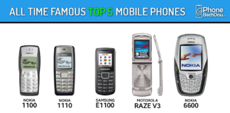 all time most popular top 5 phones - phone bech dou