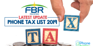 fbr phone tax list - tax on phone pta - phone bech dou