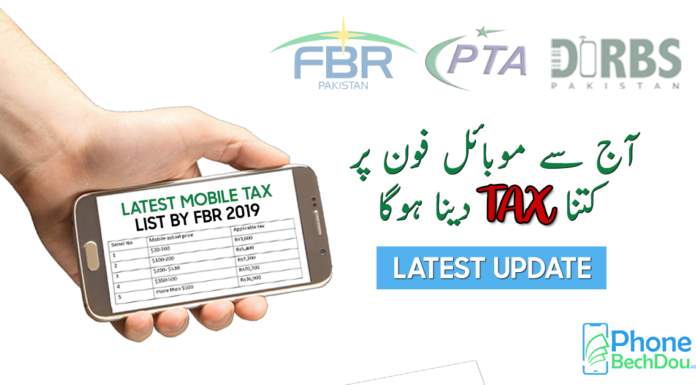 pta tax on mobile phone - phonebechdou