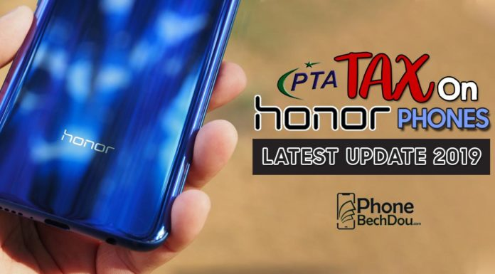 pta tax on honor phone registeration in pakistan - phone bech dou