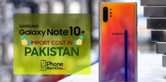 samsung galxy note 10 plus price and tax in pakistan - phone bech dou