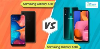 samsung galaxy a20 vs a20s - phonebechdou