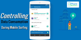 Controlling data consumption during mobile surfing
