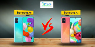 Samsung Galaxy A51 vs Galaxy A71 specs comparison