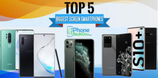 Top 5 Biggest screen smartphones to buy in 2020