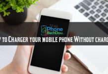 How to charge your mobile phone without a charger?