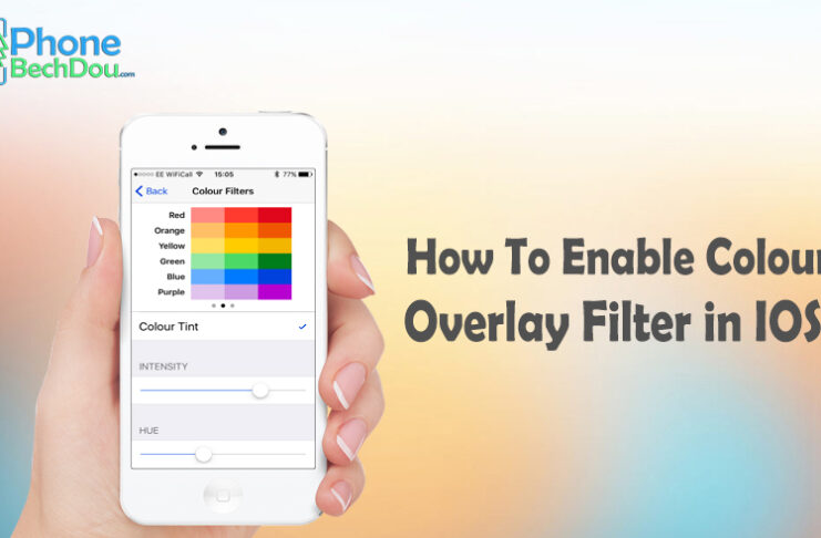 How to enable the 'color overlay' filter on iOS?