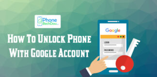 unlock my mobile phone using google account