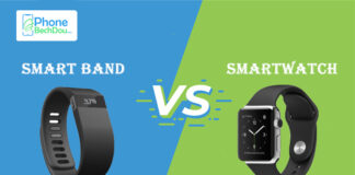 What is the difference between smartwatch and smartband?