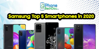 Samsung Top 5 Smartphones in 2020