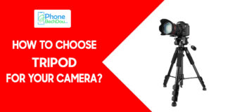 HOW TO CHOOSE A TRIPOD FOR YOUR CAMERA