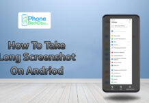 How to take a long screenshot on Android